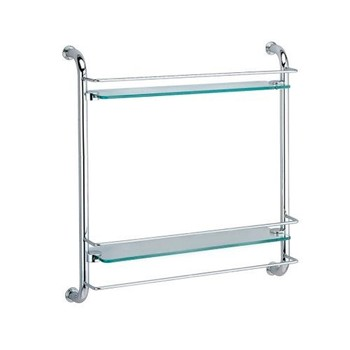 Полка стеклянная WasserKraft K-2022 двойная
