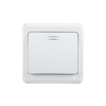Выключатель одноклавишный 10А с индикатором ВЕГА (белый) IEK