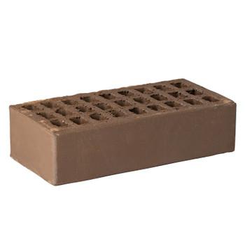 Кирпич облицовочный пустотелый одинарный М-150/200, шоколад, РКЗ