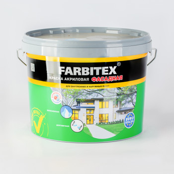 Краска акриловая фасадная, 13кг, FARBITEX