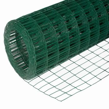 Сетка сварная зеленая 75х100мм, (1,8х15м) оцинкованная с ПВХ покрытием