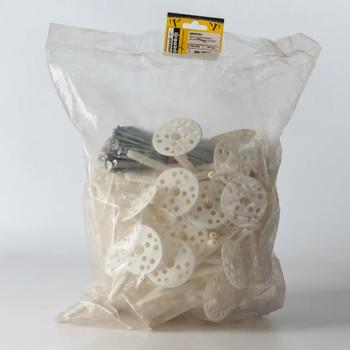 Дюбель для теплоизоляции с мет. гвоздём 10х180 (50 шт) - пакет