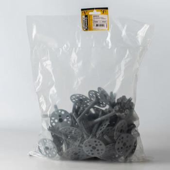 Дюбель для теплоизоляции с пласт. гвоздём 10х90 (50 шт) - пакет