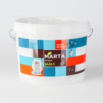 ЭКО Краска MARTA фасадная (База С), 9 л