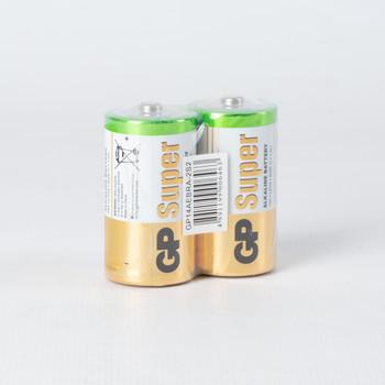 Батарейки алкалиновые GP Super Alkaline 14А типоразмера C - 2 шт. в пленке
