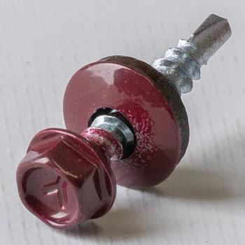 Саморез Yoko кровельный 4,8х29 мм RAL 3005 красный 250 шт/уп