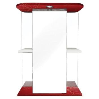 Зеркальный шкаф Iris Мадрид 50 3D красный (488974)