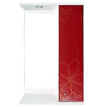 Зеркальный шкаф Iris Панда 55 3D красный (488994)