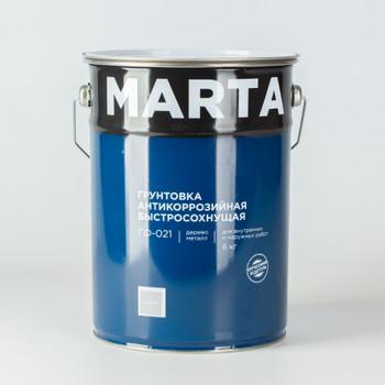 Грунт ГФ-021 MARTA серый, 6 кг