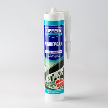 Герметик силиконовый Krass (бесцветный), 300 мл