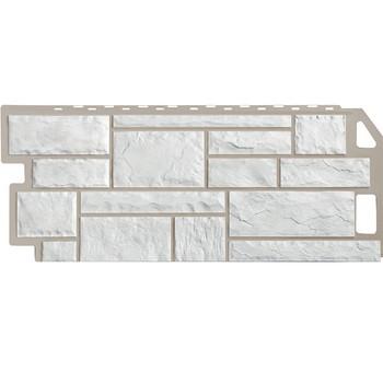 Панель фасадная камень мелован. белый 1,137х0,47м, Файн Бир
