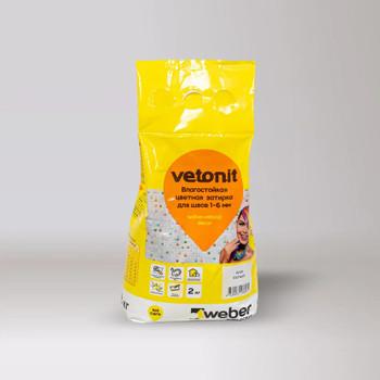 Затирка weber.vetonit decor белый, 2 кг