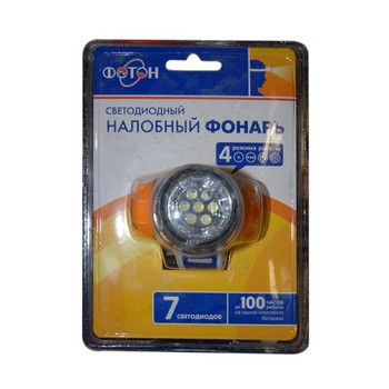 Фонарь налобный желтый (7 светодиодов) ФОТОН