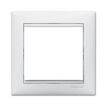 Рамка 1-местная горизонтальная белая Valena