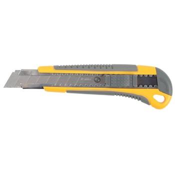 Нож 18мм, автостоп, упрочненный, 2-комп обрез. ручка, STAYER