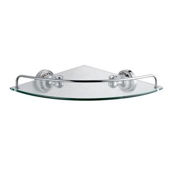 Полка стеклянная угловая Fixsen Bogema FX-78503A