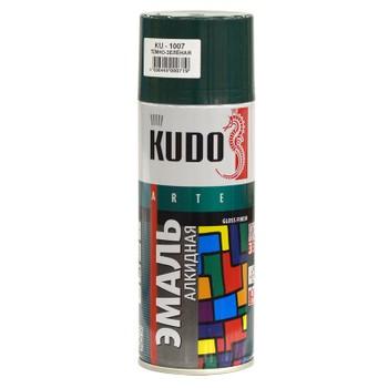 Эмаль аэрозольная темно-зеленая KUDO (1007) 0,52л