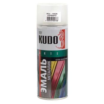 Эмаль аэрозольная серебро KUDO (1026) 0,52л