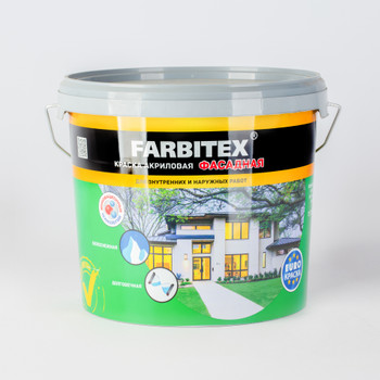 Краска акриловая фасадная, 6кг, FARBITEX
