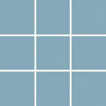 Плитка керамическая Unitile Моноколор 300х300 мм (98х98) голубая глянцевая