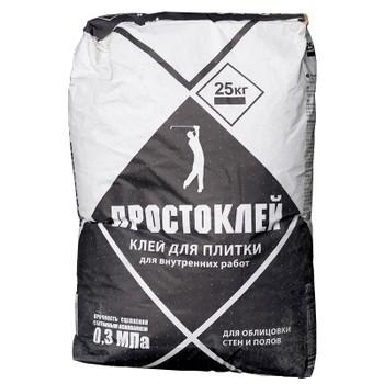 Клей для плитки Крепс Простоклей, 25кг