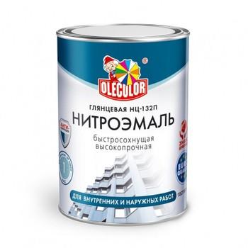 Эмаль НЦ-132П белый (0,7 кг) OLECOLOR