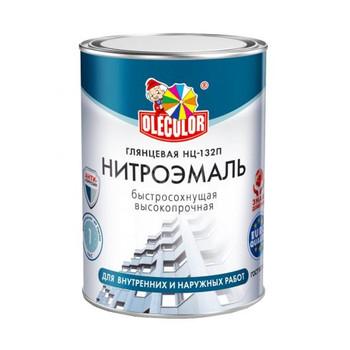 Эмаль НЦ-132П белый (1,7 кг) OLECOLOR