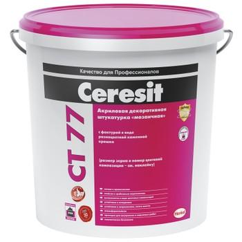 Штукатурка декоративная Ceresit CT 77 (зерно 1,4-2мм), 25кг
