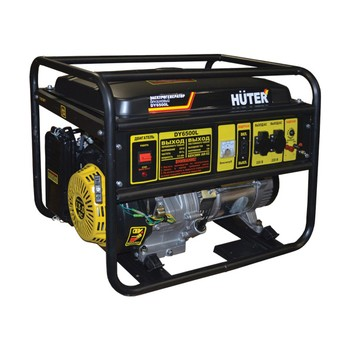 Генератор бензиновый HUTER DY6500L, 5кВт, 220Вт, старт. ручной