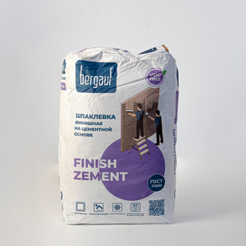 Шпаклевка финишная цементная Bergauf Finish Zement 20 кг