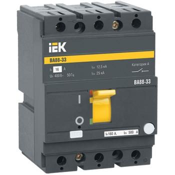 Авт. выключатель IEK 3-полюсной ВА 88-33, 125А (С)