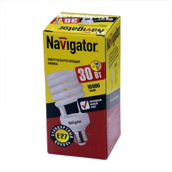 Лампа энергосберегающая 30Вт Е27 холодный свет NAVIGATOR