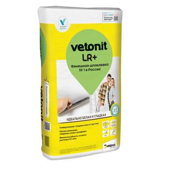 Шпаклевка weber.vetonit LR+ финишная полимерная белая, 25 кг