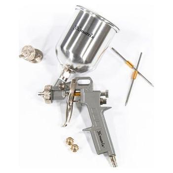 Краскораспылитель пневматический с вер. бачком V=1,0л+сопла диаметром1.2,1.5 1.8,метал. MATRIX