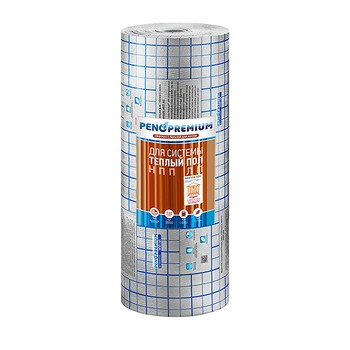 Отражающая теплоизоляция Пенотерм НПП ЛП Теплый пол 1,2x25мx5мм серый