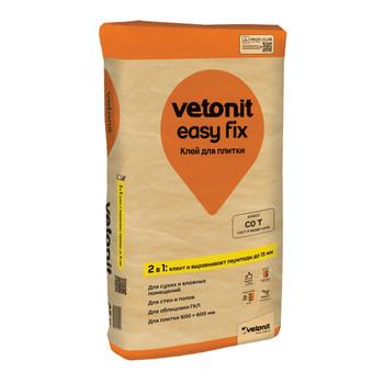 Клей для плитки (С0 Т)weber.vetonit easy fix для плитки и керамогранита, 25кг