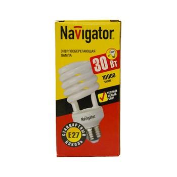 Лампа энергосберегающая 30Вт Е27 теплый свет NAVIGATOR