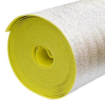 Отражающая теплоизоляция Порилекс НПЭ ЛП тип А 1,2x25мx3мм желтый с разметкой