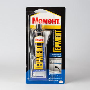 Герметик силиконовый Момент Гермент санитарный (бесцветный), 85 мл