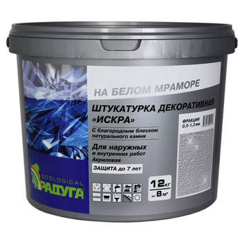 Штукатурка декоративная Радуга-34 Искра фракция 0,5-1,2мм, 12 кг
