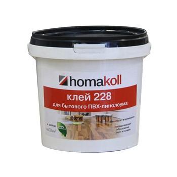 Клей Homakoll для ПВХ покрытий (228, 1,3 кг, 300-500 г/м2, для бытового линолеума, срок хранения 24 мес., морозостойкий)