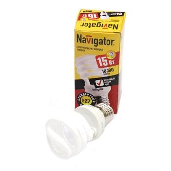 Лампа энергосберегающая 15Вт Е27 холодный свет NAVIGATOR