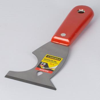 Шпатель многофункциональный с пластмассовой ручкой STAYER 75 мм