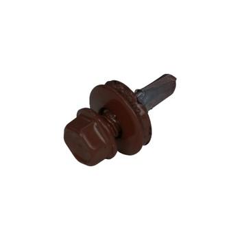 Саморез кровельный по металлу 5,5х19 мм RAL 8017 шоколадно-коричневый