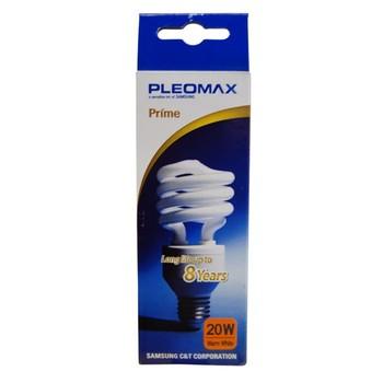 Лампа энергосберегающая 20Вт Е27 2700К эконом Pleomax T3 SP