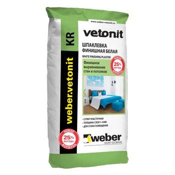 Шпатлевка weber. vetonit KR, 25 кг
