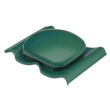 Выход вентиляции Ø160 на металлочерепицу (зеленый)