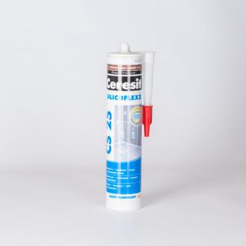 Затирка Ceresit CS25 эластичная силиконовая (светло-коричневая), 280 мл