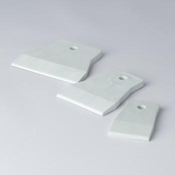 Шпатель резиновый в наборе белый 40-60-80мм, Т4Р