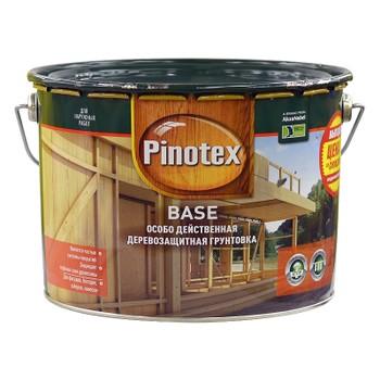 Грунт д/дерева Pinotex Base Бесцветный, 10л